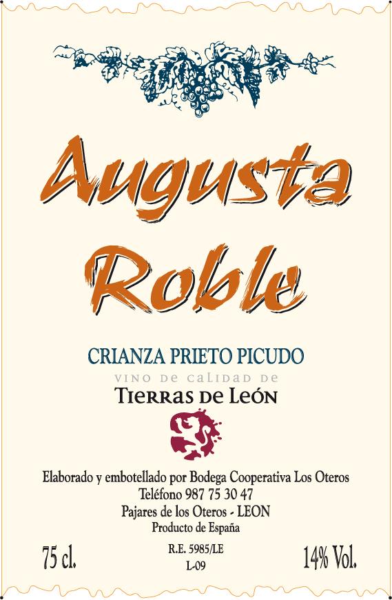 Etiqueta Augusta Roble